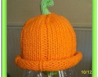 Instand Download Pattern for Premie Cotton Pumpkin Hat  Pattern / Instant Download / Magazine Featured Hat