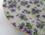 Violets Chintz Lefton China Salad Plate at Southern Lady's Vintage