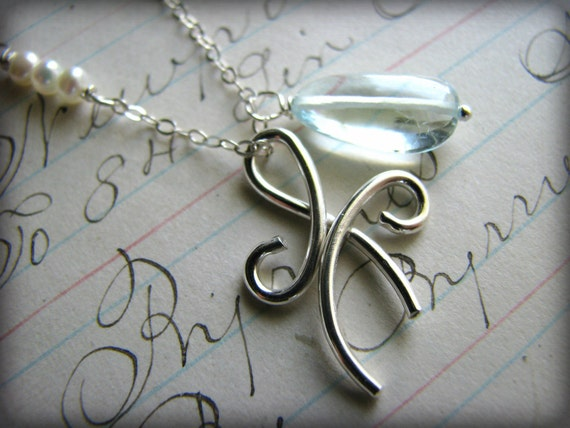 Birthstone Necklace.. Small Size Forever Friends Angel Eternity Symbol ...