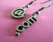 At Geek Dot Com Earrings - Asymetrical Nerdy Internet Earrings