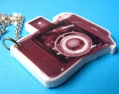 Antique Camera  Necklace - Laser Cut  Vintage Photography Pendant
