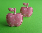 Baby Pink Apple Stud Earrings
