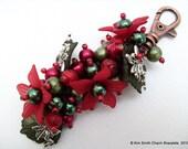 Christmas Fairy - Handbag Charm or Keychain By Kim Smith