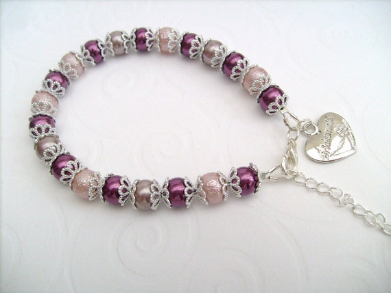 Reserved for Siobhan - Pearl Beaded Bracelet, Bridesmaid Bracelet, Single Strand Bracelet, Pearl Bracelet by Kim Smith