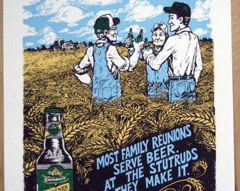 Summit Brewing Co. Pilsener limited edition screnprinted poster