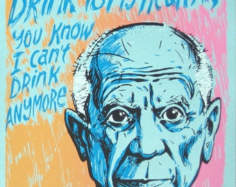 Pablo Picasso Last Words No. 6 limited edition screenprint