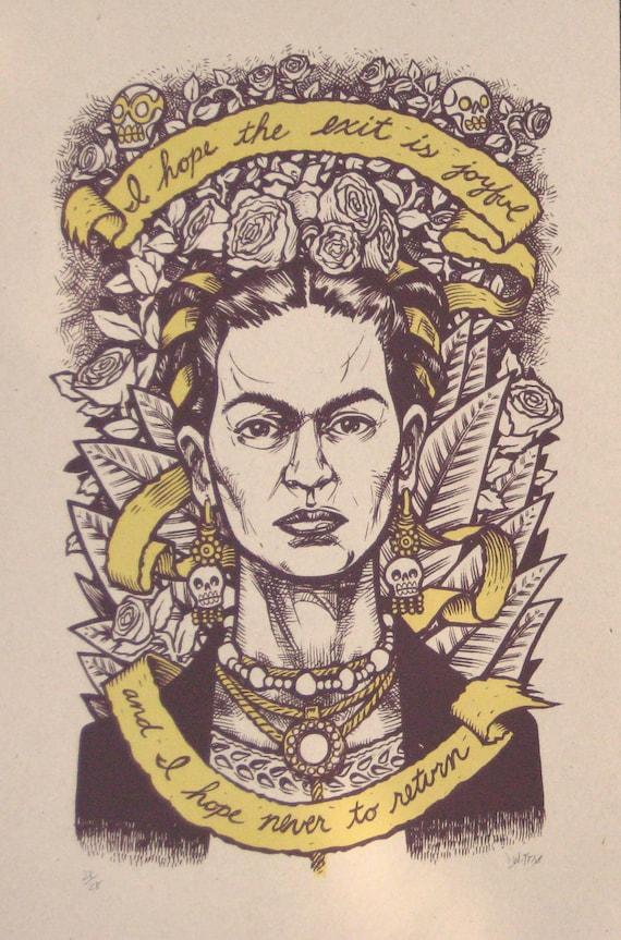 Frida Kahlo Last Words no. 1 Second Edition  darker paper variant LAST COPY