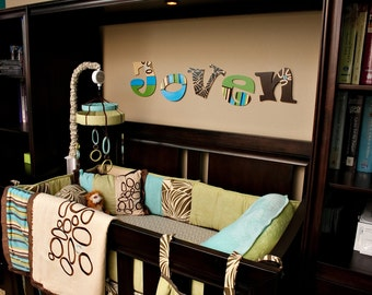 Wooden Wall Letters - Cocalo bedding - bali couture