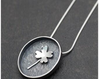 Lucky Specimen - Four leaf clover necklace