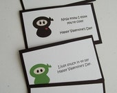 Custom Set of 25 Ninja, 25 Dinosaur, and 15 Owl Valentines--Reserved for Chris
