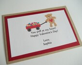 Custom Set of 20 Teddy Bear Valentines--Perfect for Classroom Parties and Personalized free