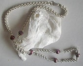 Yart Sale - Cranberry Pearl Necklace
