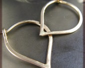 Reserved for Gwenhwyvar - A Single Itty Bitty Lotus Petals Hoop in Recycled 14k Gold