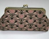 Pink Brown Deco Clutch/Bridesmaid Gift