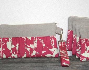 Bridesmaid Wristlets - You choose the Fabric
