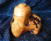 Wood stash container, local Rhody burl, ON SALE....75.00