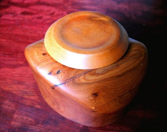 Candle holder, stash jar,  night stand jar, Pacific Yew Wood, ON SALE, 40.00