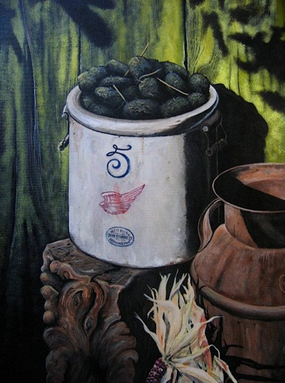 Crock of Shit, original painting by C. P. Williams