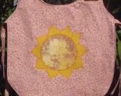 Pink Sunflower Art Smock