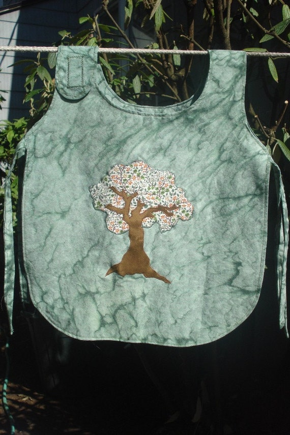Green Tree Art Smock