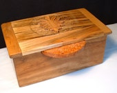 Jewelry box,treasure, sewing, box crafted from exotic hardwoods,hand carved,free shipping