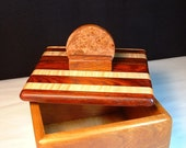 Jewelry/treasure/keepsake box handcrafted from solid,highly figured,exotic hardwood