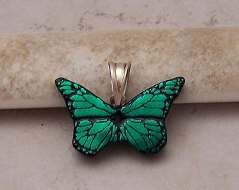 Butterfly Pendant - Green