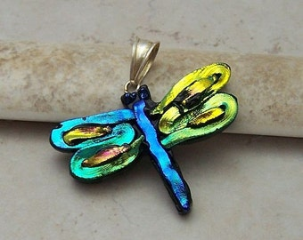 Dichroic Dragonfly Pendant