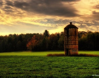 The Lonely Silo - Fine Art Photograph - Home Decor