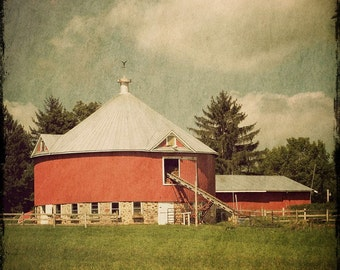 The Round Barn Fine Art Photograph 8x8 - Home Decor