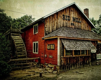 The Red Mill - Fine art photograph waupaca wisconsin - Home Decor