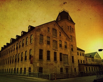 Historic Fox River Mills, Fine art print, appleton, wisconsin, the flats - Home Decor