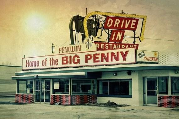 Penquin Drive-In Fine Art Photograph - 4x6, Manitowoc, Wisconsin - Home Decor