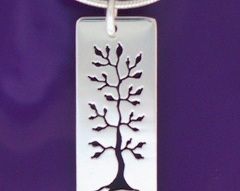 sterling tree necklace