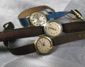 3 vintage watches (Broken) for Steampunk, assemblage jewelry, crafts, etc.