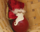 Standard Recycled Light Bulb Santa Ornament US SHIPPING INCLUDED
