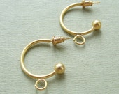 Gold plated earring findings