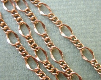 Copper Figaro Chain  3.3ft / 1 meter