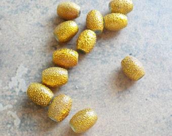 Yellow Sugar Beads  12pc
