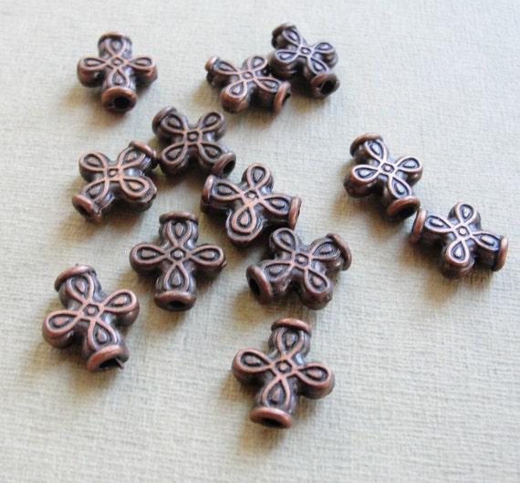 Copper Beads  12pc