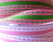SALE Grossgrain Ribbons x4metres stitch n stripe
