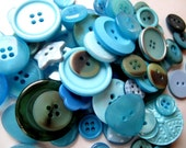 Buttons in watery MERMAID blue 50g bag