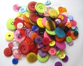 Rainbow Button Bag  200g 8oz approx mixed solid colours