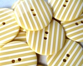 Buttons 10 BIG Vanilla Cream Stripe Buttons