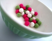 Felt TINY Balls x30 Teeny Tiny Felt Balls in 3 Fresh colours OR CHOOSE your own 3