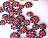 Buttons x60pcs Union Jack mini Buttons awesome for Royal projects