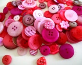 Button Mix Tickled Pink x 100g or 4oz buttons mixed pink shades
