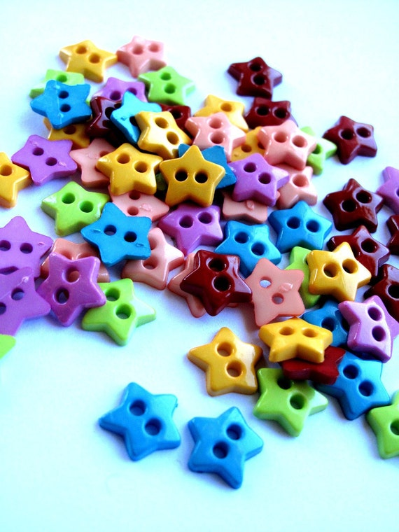 SALE xxx Buttons x60 Teeny Tiny Micro-Star Buttons