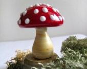Murano glass mushroom