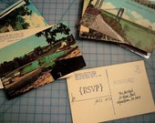 CUSTOM LISTING Vintage Geographic postcard DEPOSIT